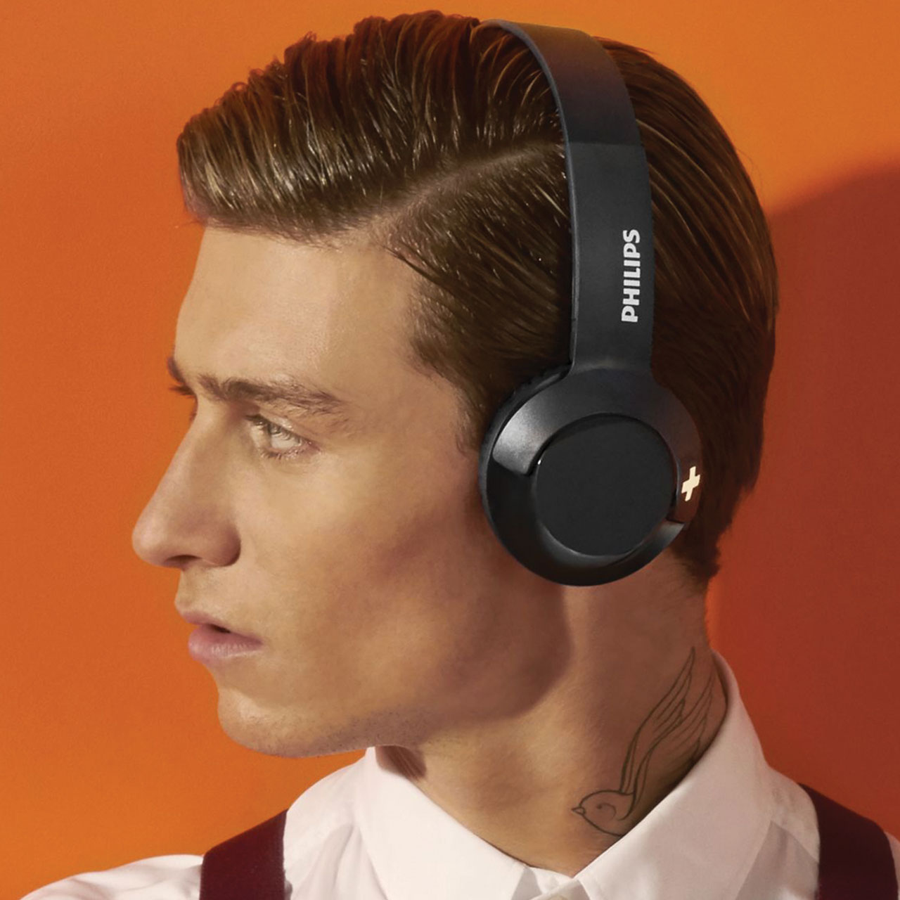 Philips Bass Bluetooth Headband Headphone With Mic White